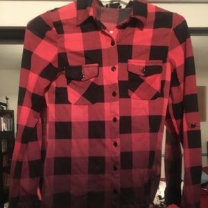 Tops - Pink flannel